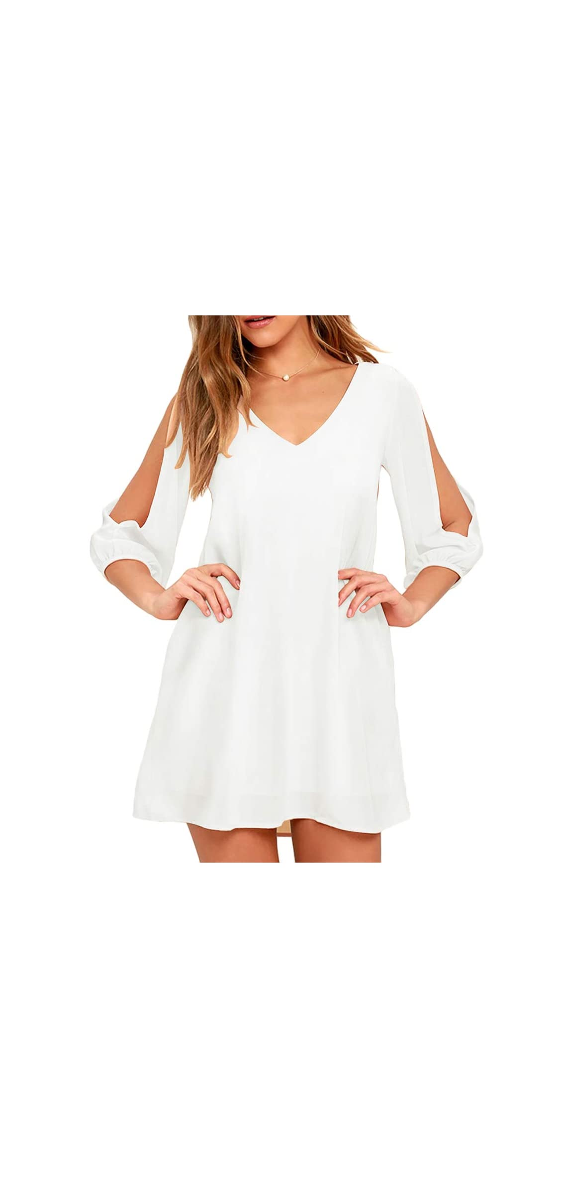 Women's Long Sleeve Casual Loose Summer Midi Shift