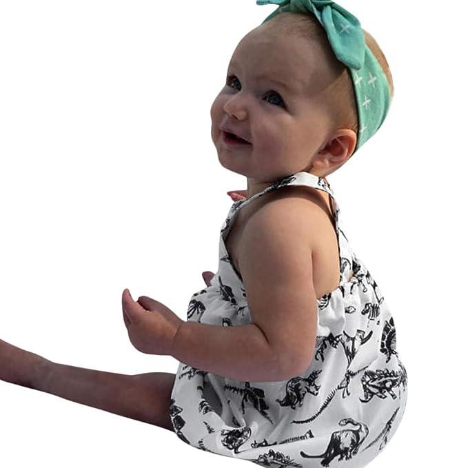 Ropa Recien Nacido Bebé Niña Vestido Sin Manga con Estampado ...