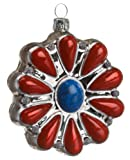 Ornaments To Remember Coral Bolo Pendant Hand-Blown Glass Ornament
