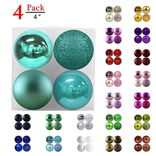 GameXcel Christmas Balls Ornaments for Xmas Tree - Shatterproof Christmas Tree Decorations Large Hanging Ball Teal 4.0