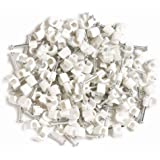 Aerials Satellites and Cables 100 TV Coax Cable Clips - White