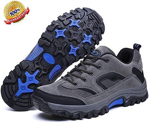 ハイキングシューズメンズウォーキング防水ブーツ軽量ベント通気性ハイキングトレッキングシューズラバーアウトソールランニングシューズ,A,7 inches