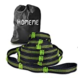 Hammock Straps, Homeme Hammock Tree Straps - 2000LBS Breaking Strength 20 Ft Long 36 Loops