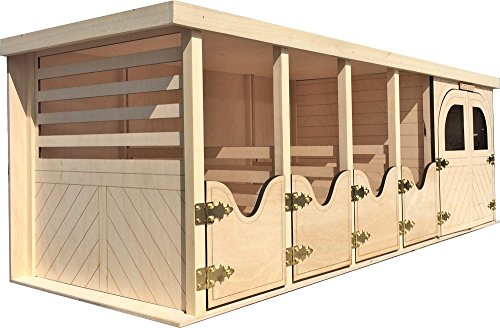 Wooden Horse Barn with 4 Stables and Tac - Mini Horse Stable Shopping Results