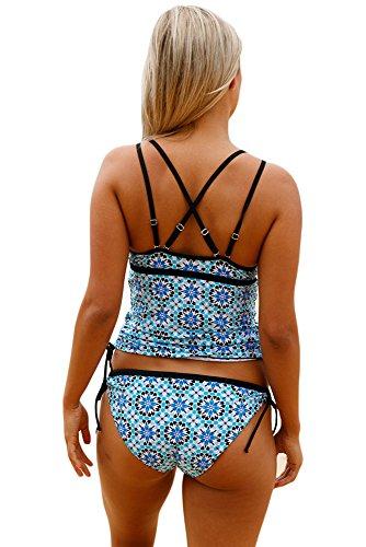 New Light Blue Push up pezzi Set bikini bikini Swimwear estivo, taglia UK 12EU 40
