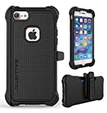 iPhone 7 Case, Ballistic [Tough Jacket Maxx Series] Heavy Duty Protection Black Case for Apple iPhone 7 Drop Test Certified 8ft Impact Drop Protection Rugged Rotating Holster Clip & Screen Protector