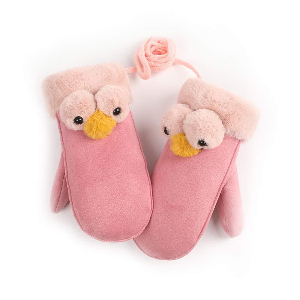 Winter Children Gloves Cute Twist Gloves Warm Full Finger Gloves Cute Mittens Knitted Gloves For Kids Boys Girls Cat)