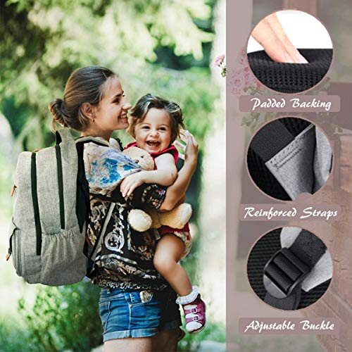 f6e87f0509 Stylish Large Diaper Bag Backpack - Ultimate Multifunction Baby Bags for Mom  or Dad Professionals -