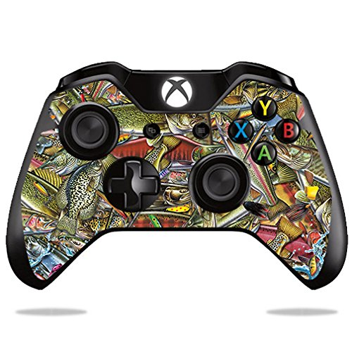 Price comparison product image Skin For Microsoft Xbox One/ One S Controller – Fish Puzzle | MightySkins Protective, Durable, and Unique Vinyl Decal wrap cover | Easy To Apply, Remove, and Change Styles | Made in the USA