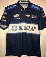 Small 2017 SPARCO Kyle Larson Xfinity DC SOLAR Pit Crew Shirt Nascar Ganassi Racing 1/4 ZIP Jersey not Race Used