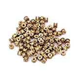 Brass Threaded Insert Nuts, M2*3.5 Cylinder Knurled Round Molded-in Insert Embedded Nuts 1set (M2*2 * 3.5(100pcs))