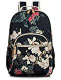 School Bookbags for Girls, Retro Floral 15.6 Inch Review and Comparison