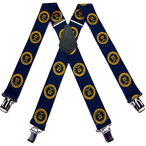 Air Force Necktie (Gold Men's Airforce Suspenders for pants trousers Made in the USA)