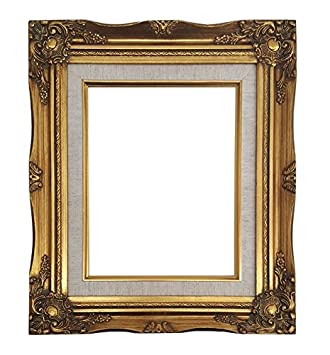 Amazoncom Ornate Baroque Gold Painted Wooden Frame With Cream