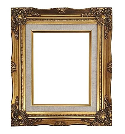 Decorative Arts Picture Frame-20x24 Vintage Antique Style Ornate Baroque Gold Linen Liner 637g Attractive And Durable
