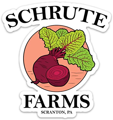 Schrute Farms Beets The Office - Vinyl Sticker Waterproof Decal 4