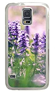 Lavender 4 Clear Hard Case Cover Skin For Samsung Galaxy S5 I9600
