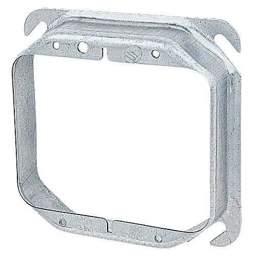 Steel City 52C21 Device Cover, Square, Raised, 4-Inch, Galvanized, 25-Pack
