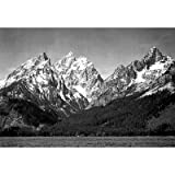 (13x19) Ansel Adams Snow On Mountains Teton Archival Photo Poster