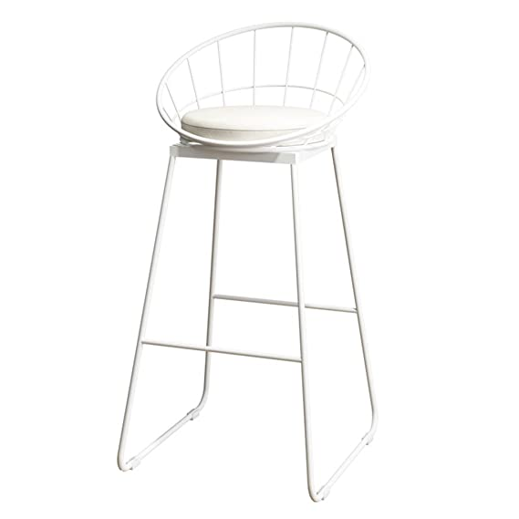 Amazon.com: JYKOO Taburete de bar redondo, sillones de metal ...