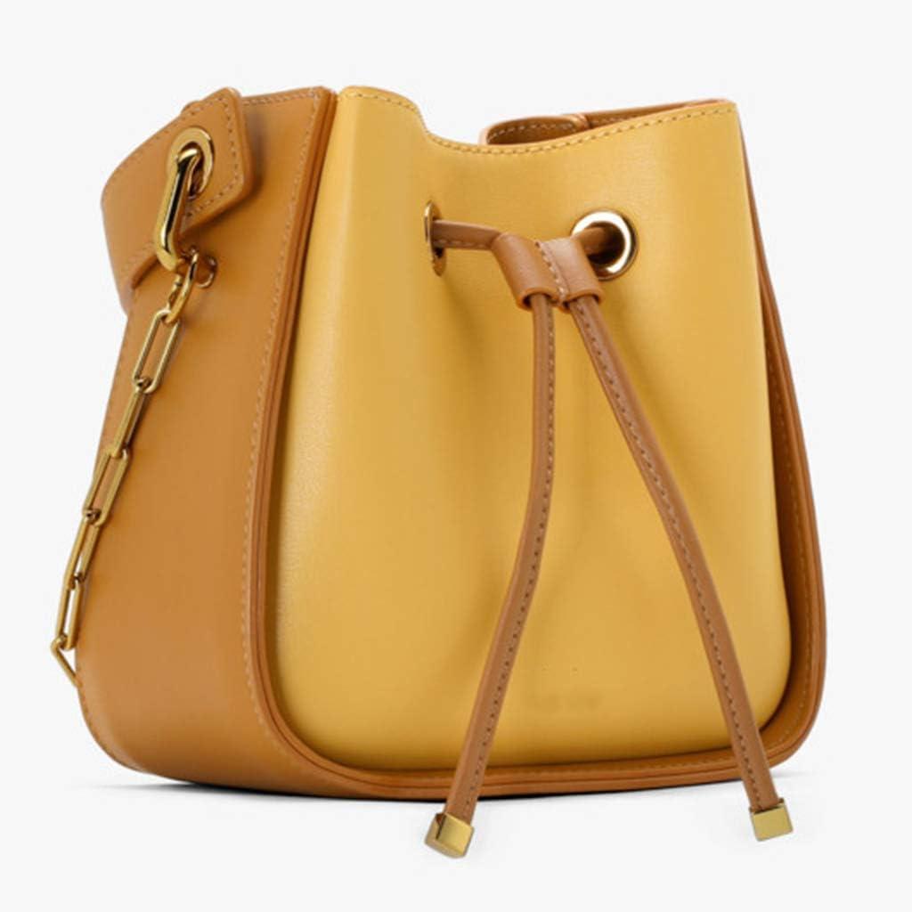 Black dailymall Leather Drawstring Replacement Strap for Bucket Bag Handbag