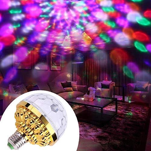 ZHISIDA Ampoule LED de sc/ène avec des Variations Multicolores /éclairage d/écoratif pour la soir/ée Disco DJ Home Party Ampoule E27 Crystal Stage Strobe Light