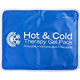 Roscoe Reusable Cold Pack and Hot Pack – Ice Pack For Knee, Shoulder, Back, Injuries - Microwave Heating Pad, 11 x 14 Inches