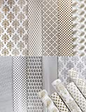 Asian Hobby Crafts Printed Gift Wrapping Paper (Assorted Design, Size - 26' x 19' Inches) : Pack of 10 Sheets - Golden/Silver