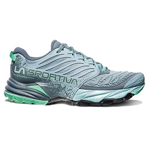 La Sportiva Akasha Running Shoe - Women's, Stone Blue/Jade Green, 40.5