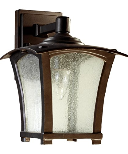 Quorum International 7510-8-86 Gable 1 Light Outdoor Wall Light in Oiled Bronze with Seeded (Gables One Light)