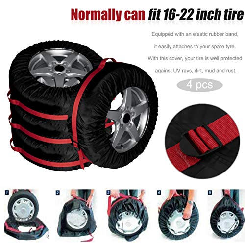 secours automobile pneus de protection rangement roue 4pcs véhicule de roue sac de de de pneu portable accessoires des durable voiture roue de RE5xqpxwP4