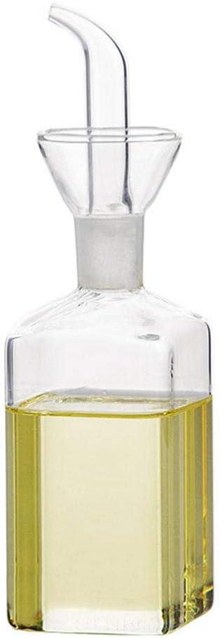 Flyvirtue Botella De Aceite De Vidrio Botellas De Vidrio Juego Botella De Aceite De Fugas para El Hogar Botella De Vinagre Botella De Soja Olla Vidrio Completamente Transparente Colocaci/ón Suave