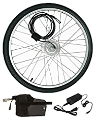 Ride bikes. Have fun. Feel good.This Hilltopper Electric Bikes Conversion Kit will transform your bike or tricycle into an electric bike. With only 5 minutes and a wrench, you can put a motor on your front wheel to help you climb that hill, c...