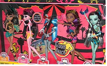 Monster High Gloom Beach Doll 5-er Pack, Cleo de Nile ... - Amazon.es