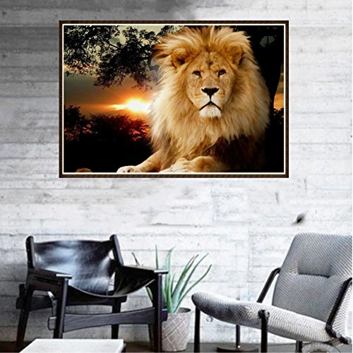 Pollyhb 5D Diamond Painting, New 5D Embroidery Paintings Rhinestone Pasted DIY Diamond Painting Cross Stitch,Lion Nature Landscapes