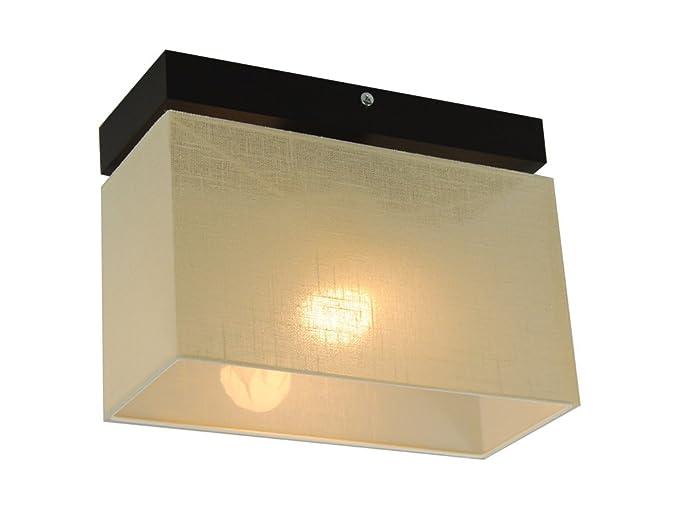 Plafoniere Con Base In Legno : Plafoniera illuminazione a soffitto in legno massiccio jls ecd