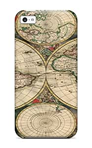 AnnaSanders KzjjgOg4345wCJjc Case For Iphone 5c With Nice Map Misc Abstract Misc Appearance