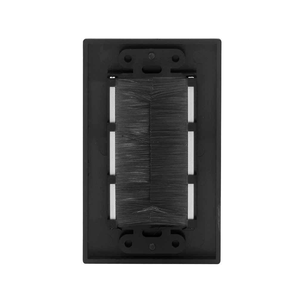 VCE (3-Pack) Single Brush Wall Plate - Black