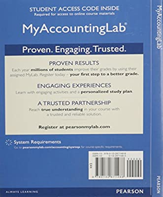 NEW MyAccountingLab with Pearson eText -- Access Card -- for Introduction to Management Accounting
