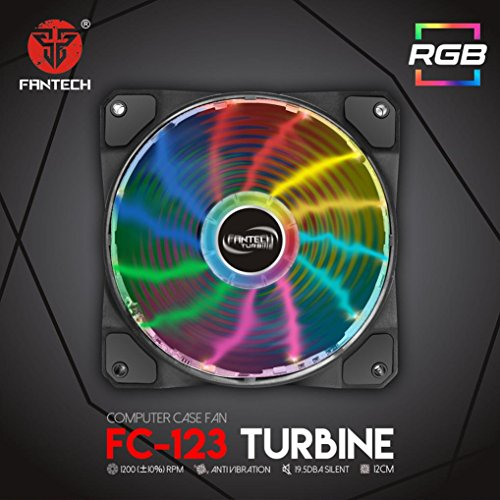 Notebook Chassis - FC-123 Powerful Cooling Fans with Colorful LED,Tuscom PC Chassis Desktop Fan For Laptops, Notebooks, Consoles or Players (Black)