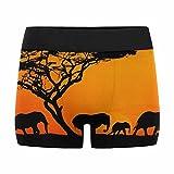 InterestPrint Boxer Briefs Men's Underwear Group of Elephant in Africa XXL