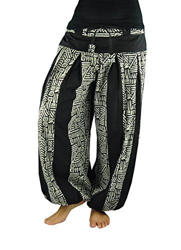pantalones cagados largos virblatt talla única con entrepierna alta para mujeres, S - L blumer con patrones de Yoga, ropa hippie - Bloomers Bewegt