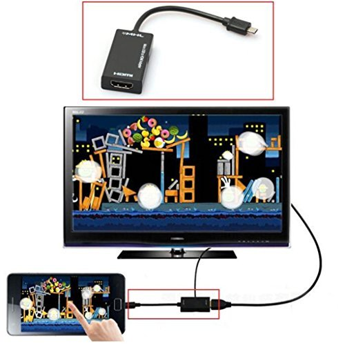 Mini Micro USB 2.0 MHL To HDMI Cable HD 1080P For Samsung Galaxy note (Universal Video Probe Tip)