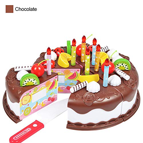 Making Cake Toys, Children's Play House Toy Set Birthday Cake Celebration Girl Cake Toy Blowing Candle Fruit Bunny Cake House Pretending Play House Toy