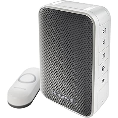 Honeywell (RDWL313A2000/E) Series 3 Portable Wireless Doorbell/Door Chime and Push Button + 1 Year Extended Warranty