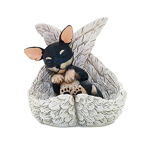 CHIHUAHUA Leave Paw Prints DOG in Angel Wings Figurine NEW
