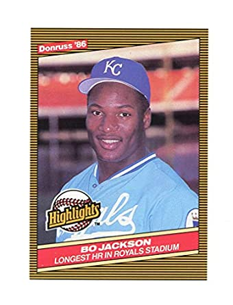 1986 Donruss Highlights  43 Bo Jackson Royals Home Run Rookie Card - Mint  Condition Ships fee411666
