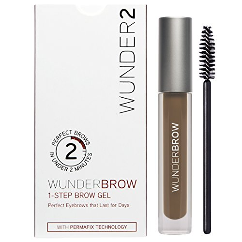 (WUNDER2 WUNDERBROW Long Lasting Eyebrow Gel for Waterproof Eyebrow Makeup, Brunette)