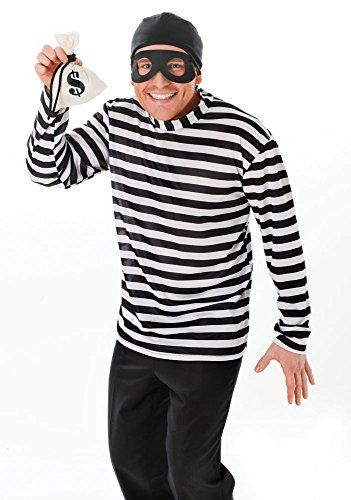 (Bristol Novelty AC162 Burglar Costume, White,)