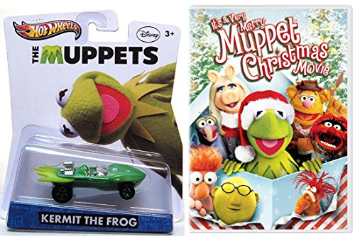 It's a Very Merry Muppet Christmas Movie DVD & Hot Wheels Kermit the Frog Character Entertainment Car Set Looney Tunes Show Christmas Carol